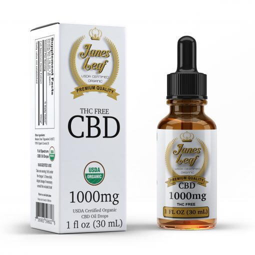Janes Leaf CBD 1000mg THC Free