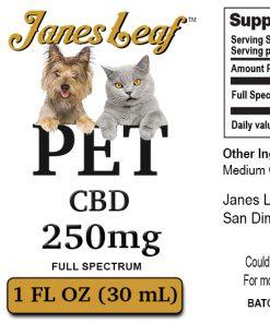 Janes Leaf cbd pet 250