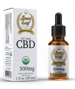 Janes Leaf CBD 500mg THC free bottle