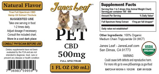 Janes Leaf Pet 500